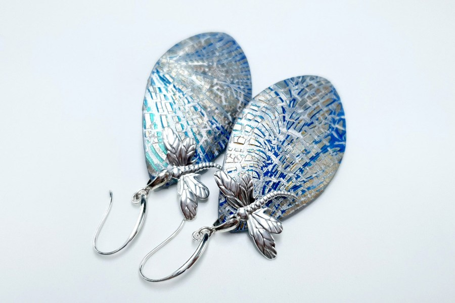 Earrings Dragonfly and Ice 8