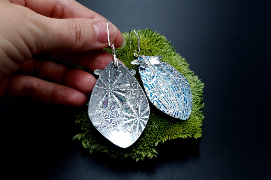 Earrings Winter Dragonflys 6