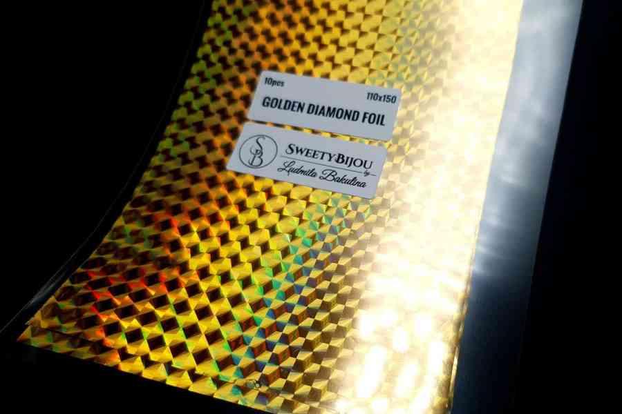 Golden Diamond Foil (10 pcs) 3