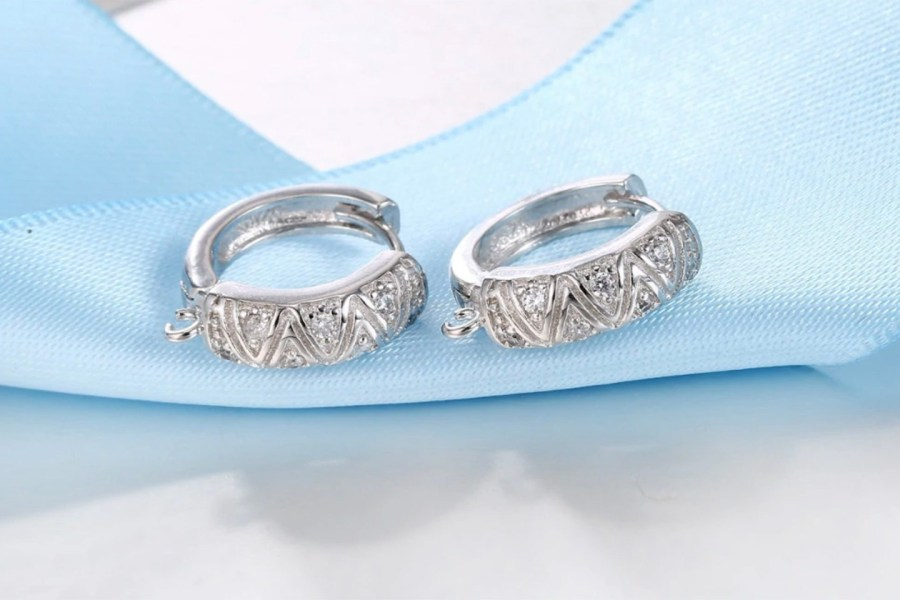 "High Quality Earring Findings ""Elegant Style"" 2 pcs 1"