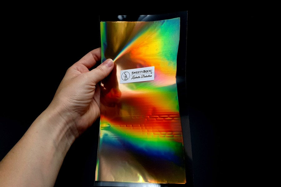 Ammolite Effect Foil (110x210mm, 10 pcs)