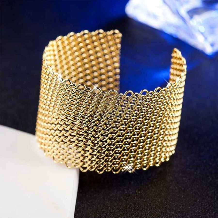 Metal gold color textured bracelets tool for baking 7