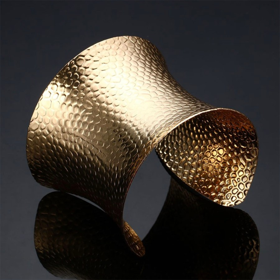 Golden color metal base for baking polymer clay bracelets 4