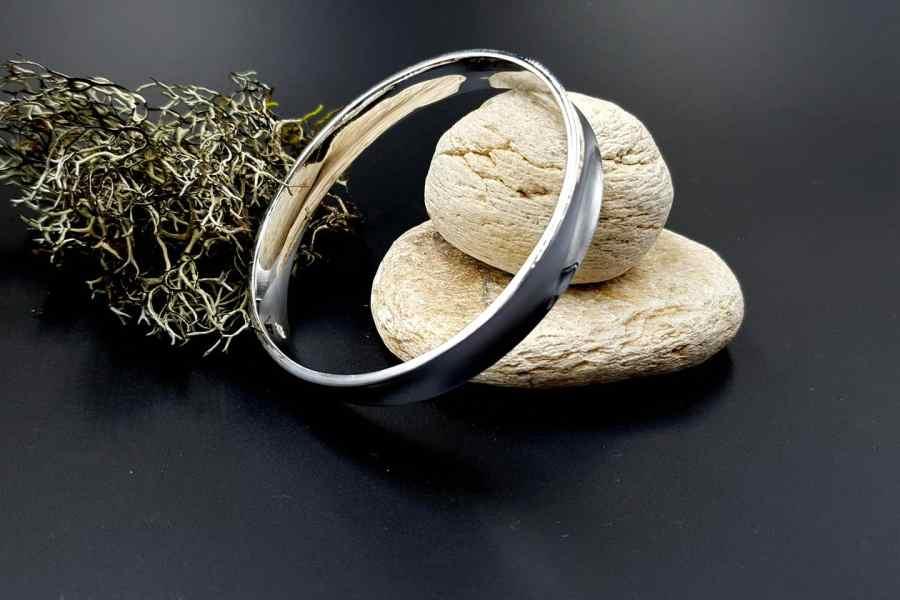 Metal silver color plated bangle base bracelet 3