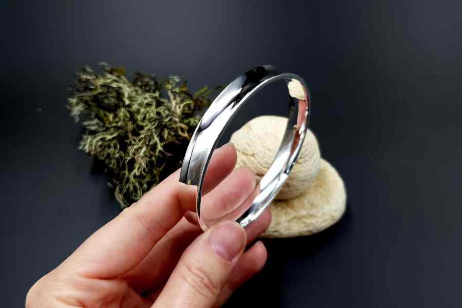 Metal silver color plated bangle base bracelet 1