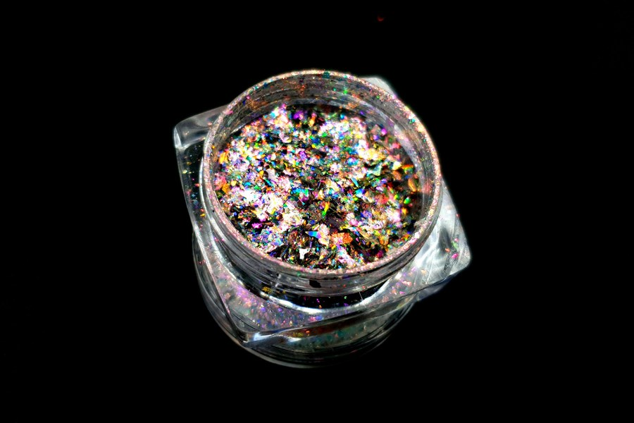 Set of 3 colors Aurora Chameleon Flakes - Art Glitter Powder 3