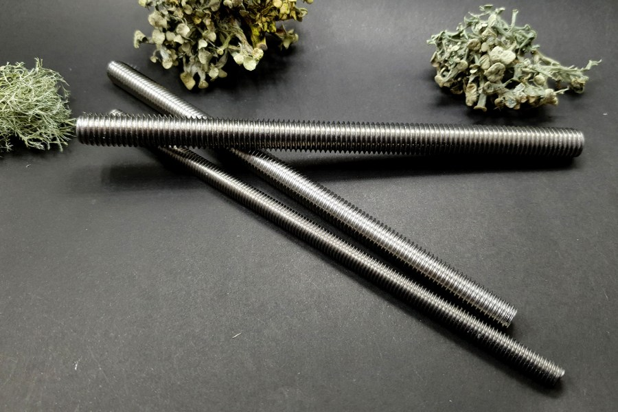 Set of 3 pcs textured metal rod tool for polymer clay 8