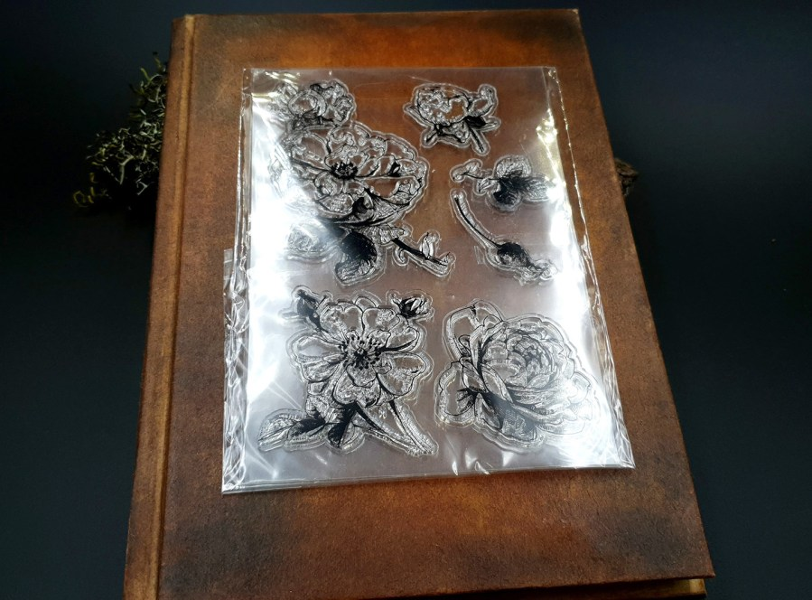 "Clear Silicone Stamp ""Flowers"" for Polymer Clay 4"