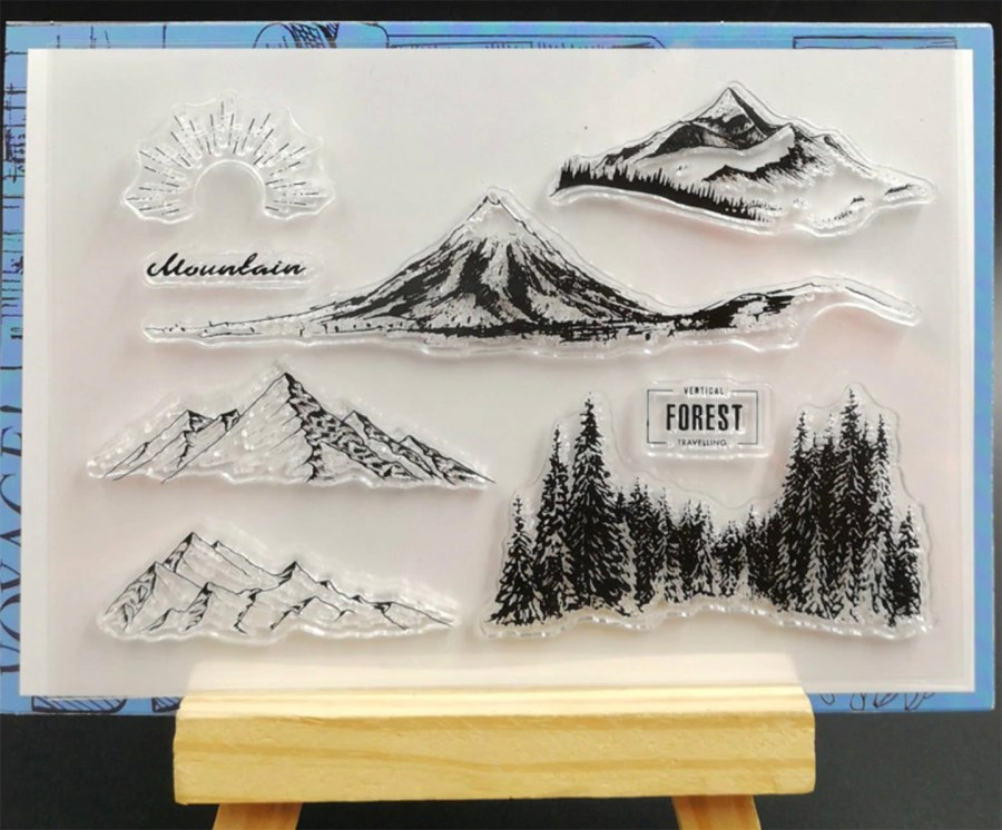 "Clear Silicone Stamp ""Forest"" 6"