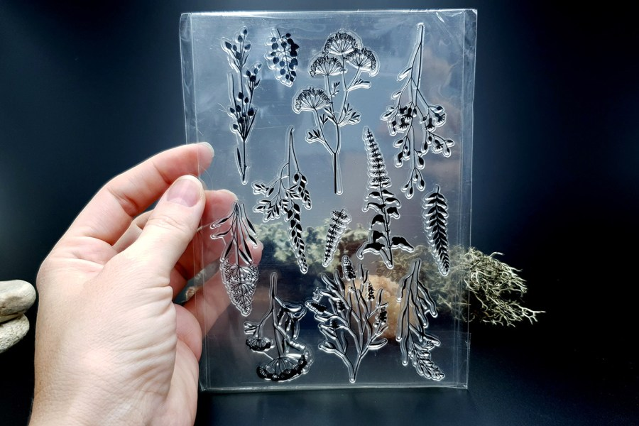 """Clear Silicone Stamp """"Herbs"""" 3"""