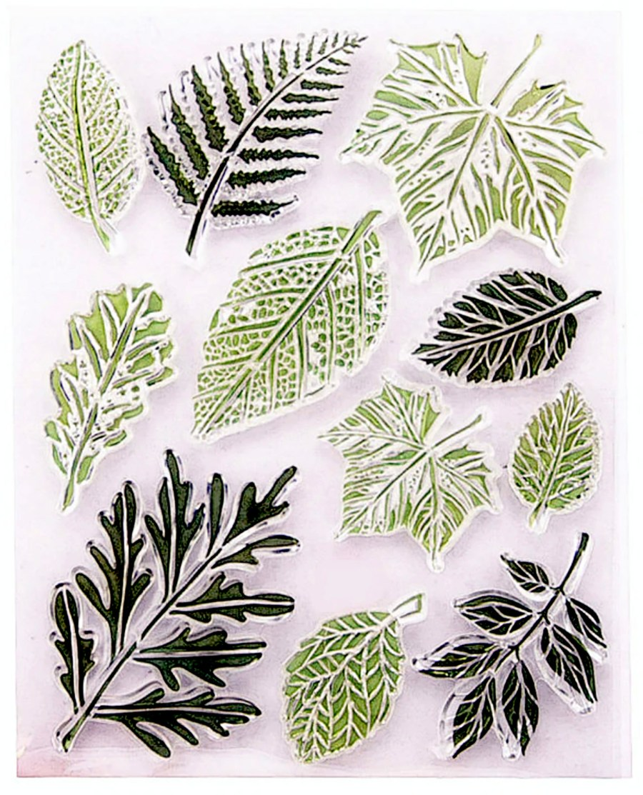 """Silicone Stamp """"Leafs"""" for Polymer Clay 6"""