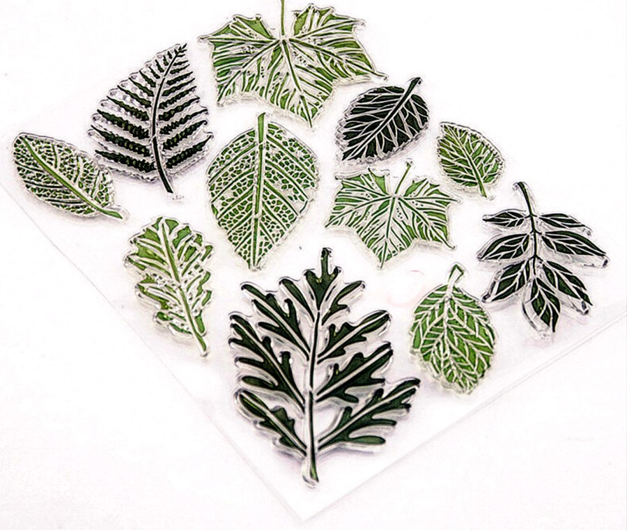 """Silicone Stamp """"Leafs"""" for Polymer Clay 4"""