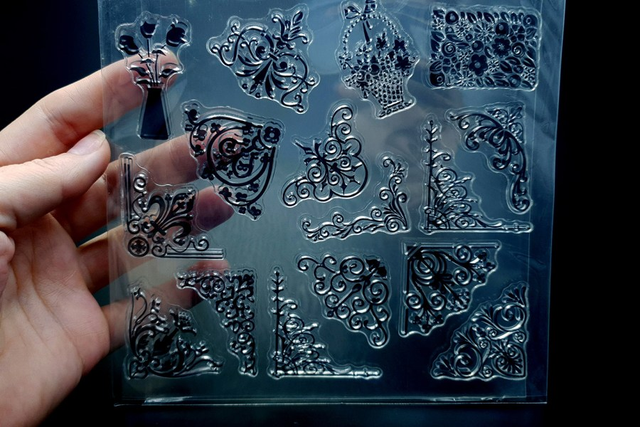 """Clear Silicone Stamp """"Corners"""" 1"""