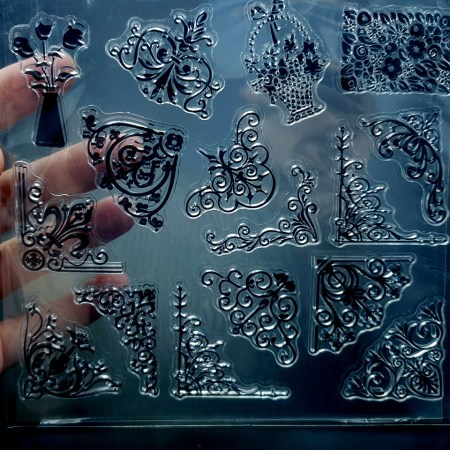 """Clear Silicone Stamp """"Corners"""""""