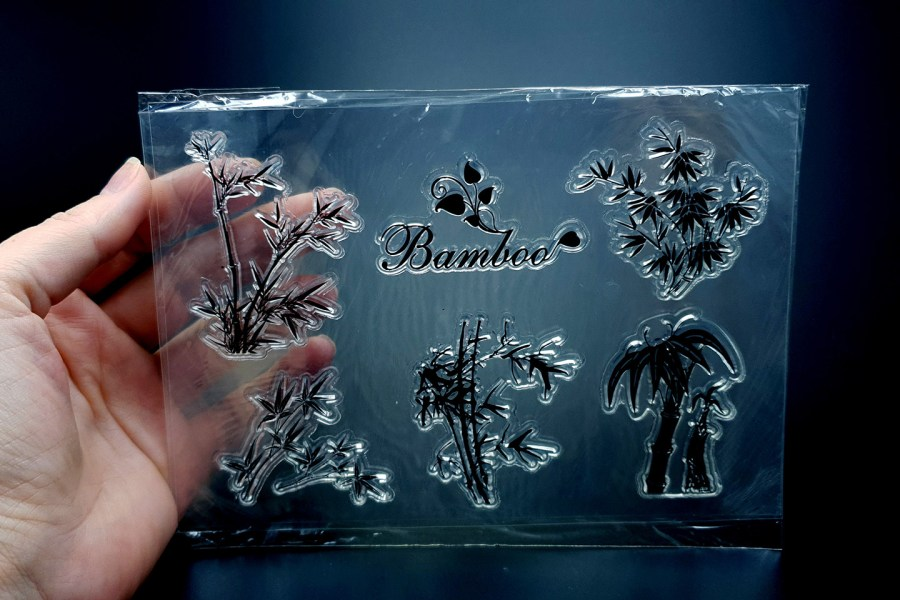 "Clear Silicone Stamp ""Bamboo"" 3"