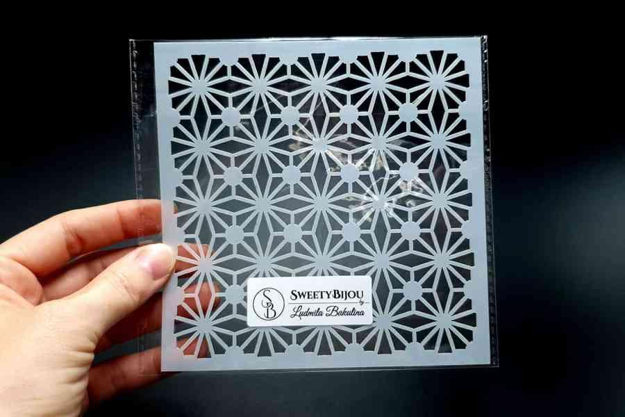 Morrocan Pattern Flowers (13x13cm) 1