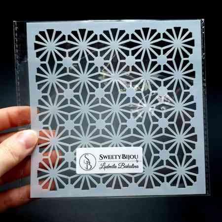 Morrocan Pattern Flowers (13x13cm)