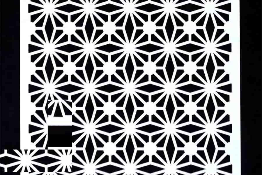 Morrocan Pattern Flowers (13x13cm) 5