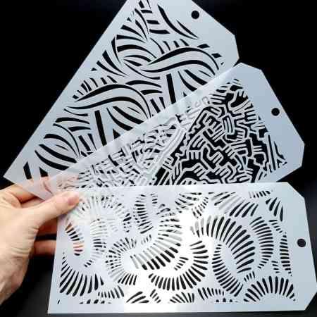 Set of 3 Doodle Patterns 2 (12x24cm)