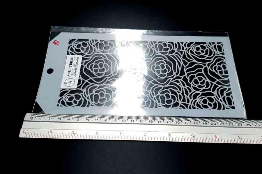 Roses Flowers Pattern (12x24cm) 4