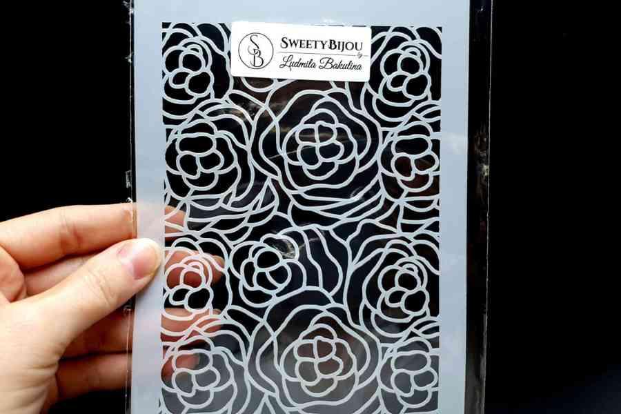 Roses Flowers Pattern (12x24cm) 3