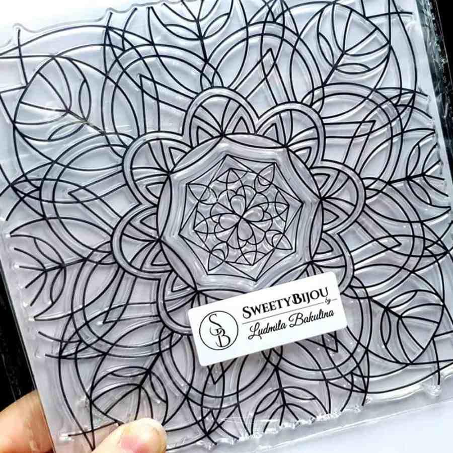 Mandala Snowflake Pattern 1 (14.5x14.5cm)