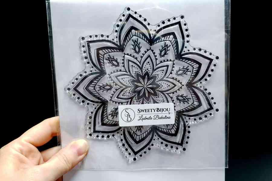 Mandala Snowflake Pattern 2 (14.5x14.5cm) 4