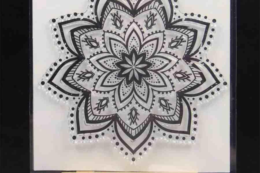 Mandala Snowflake Pattern 2 (14.5x14.5cm) 7