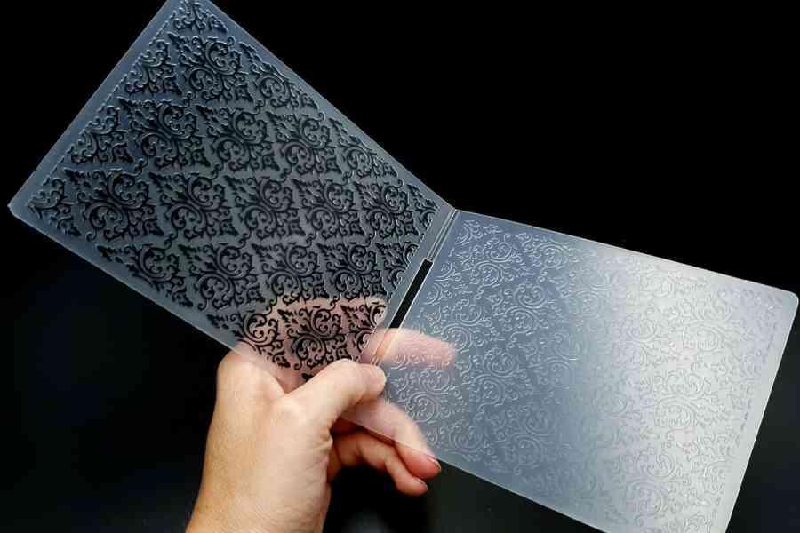 Floral Pattern 2 (10.6x14.5cm) - Plastic Textures 2