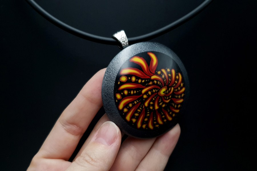 Ammonite in Black Frame 3