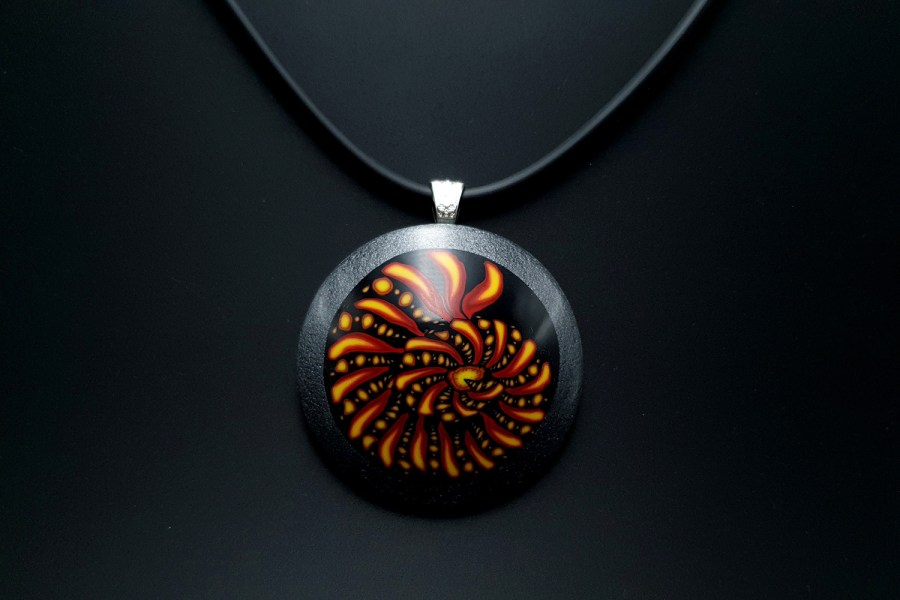 Ammonite in Black Frame 4