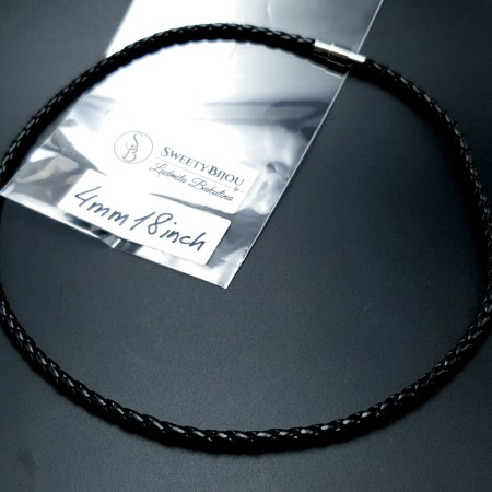 Black Leather Cord, 18inches/45cm