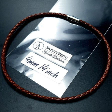 Brown Leather Cord, 14inches/35cm
