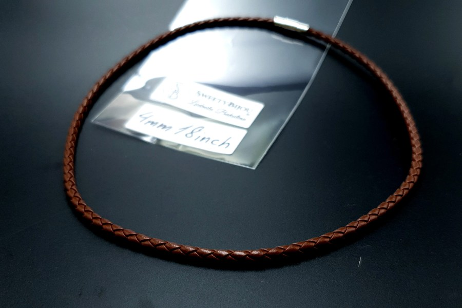 Brown Leather Cord, 18inches/45cm 4
