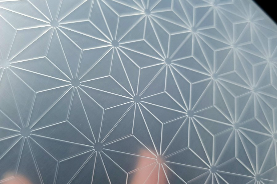 Geometric Flowers 2 (15x15) - Plastic Texture 8