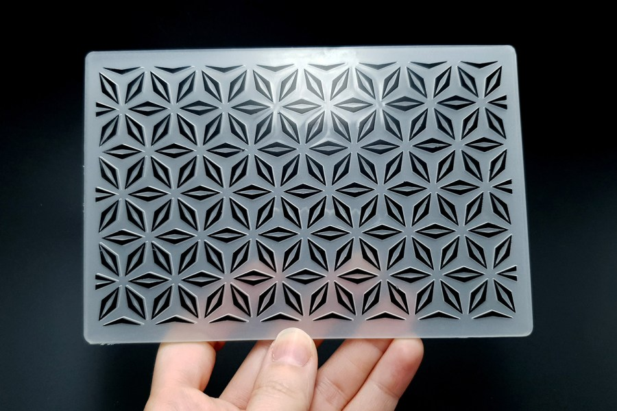 Geometric Flowers (10.5x15) - Plastic Texture 2