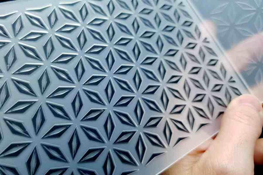 Geometric Flowers (10.5x15) - Plastic Texture 6