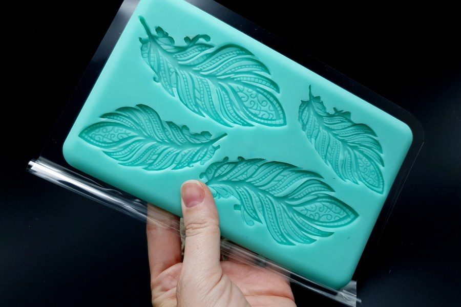 Handmade Silicone Feather Mold #1 (175x105mm) 9