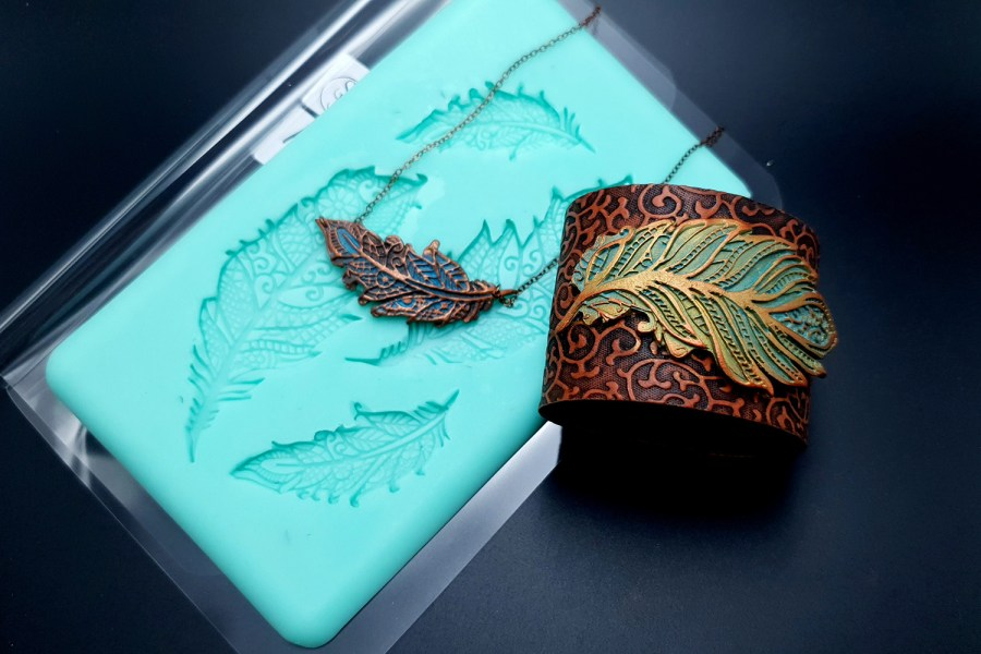Handmade Silicone Feather Mold #2 (175x105mm) 7