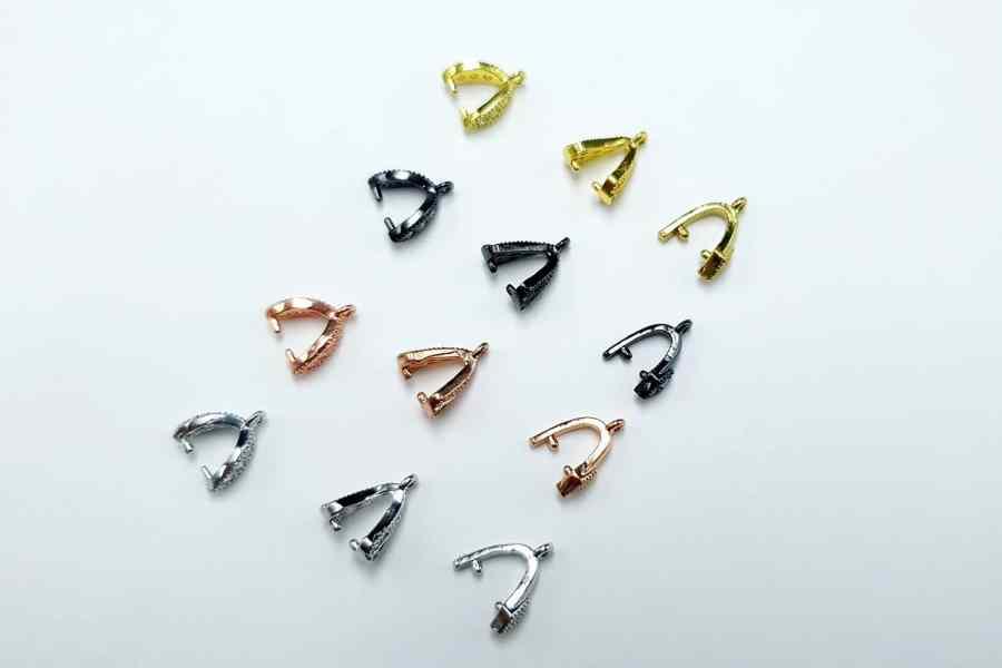 High Quality Necklace Pinch Clip Bail (set 12 pcs) 5