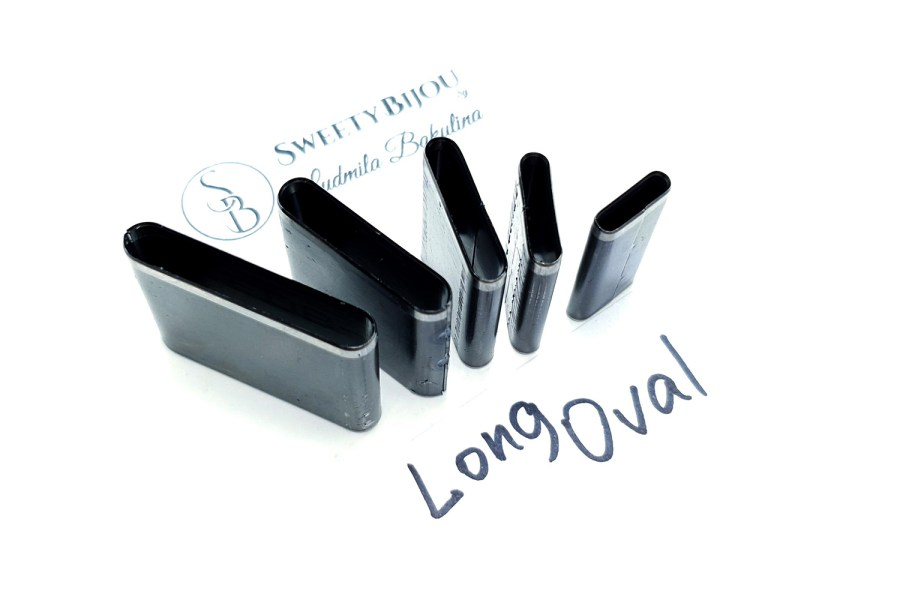 Sharp Cutters Long Oval shape, 5pcs 10