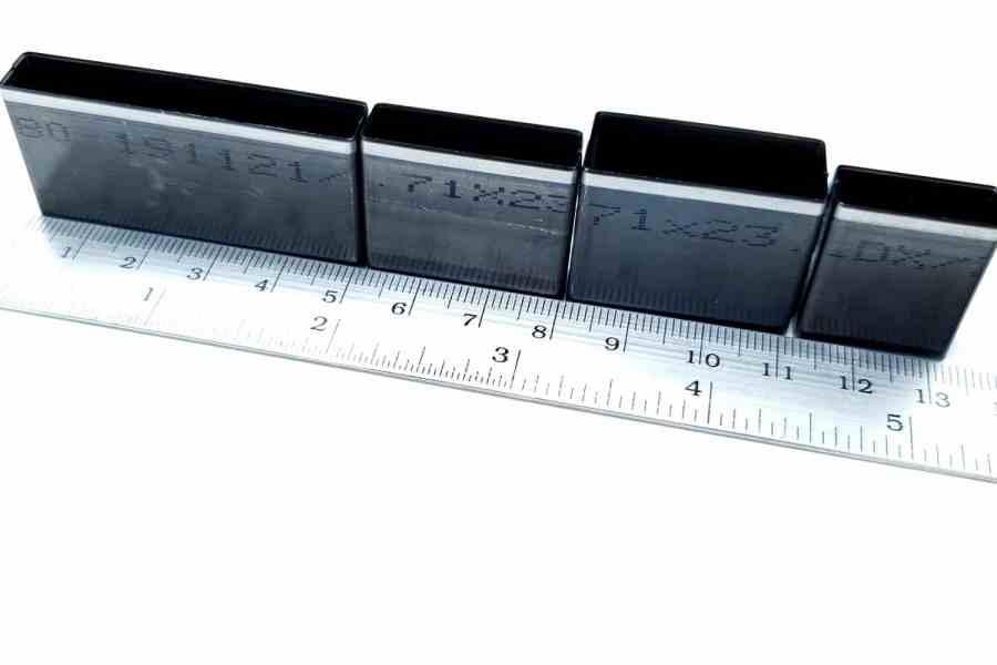 Sharp Cutters Long Rectangle shape, 4pcs 5