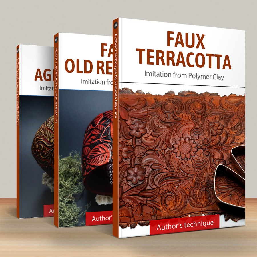 Faux materials: Terracotta, Red Wood & Aged Metal 1