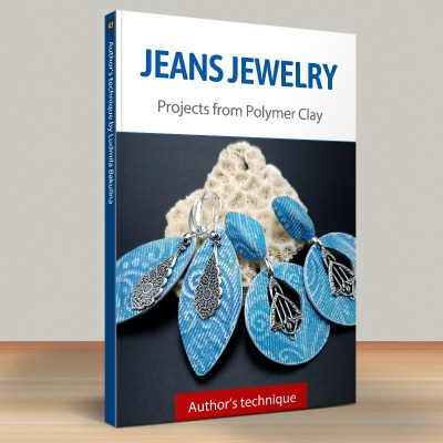 Faux Jeans/Denim Fabric: Part.3 Jeans Earrings, Style 1