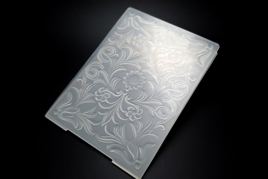 Tooled Leather Flowers (10.5x14.5) 1