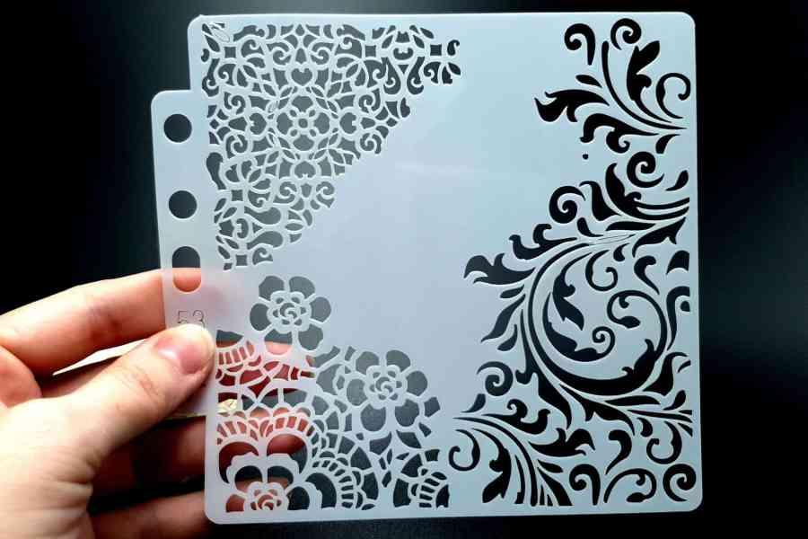 """Set of 4 pcs """"Floral"""" Plastic Stencils 8"""