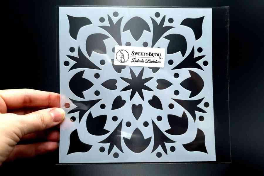 """Winter Snowflake"" Plastic Stencil (1pcs) 2"