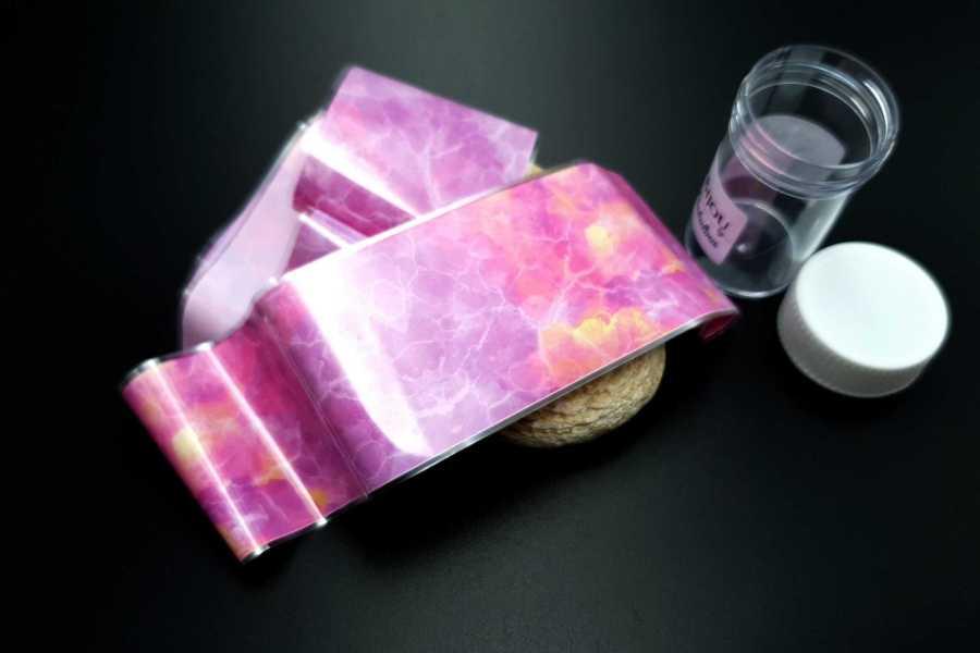 """Foils """"Pink Marble"""" 1"""