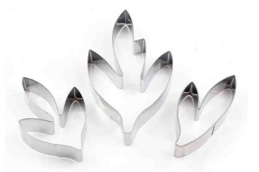 Stainless Steel Peony Flower Leaves 10