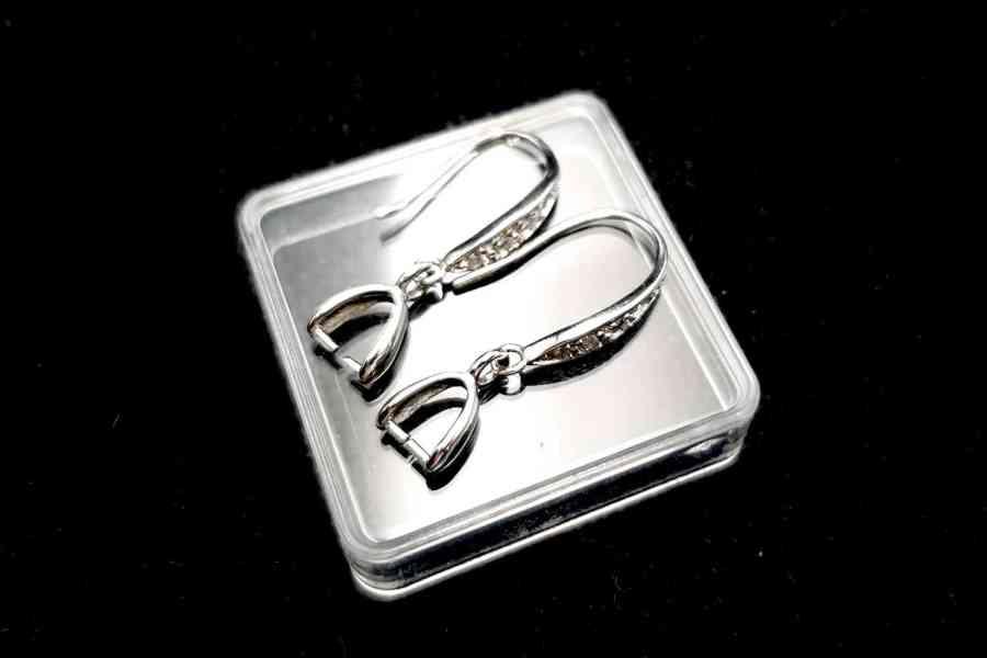 Genuine 925 Sterling Silver Clasp Hook Earrings Findings 7